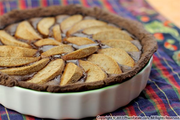 Chocolate Pear Almond Tart Recipe Recipe