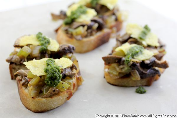 Mushroom Bruschetta Recipe Recipe