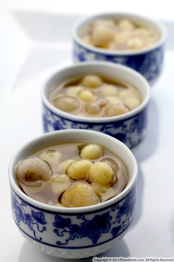 Vietnamese Dessert with Lotus Seeds and Longans: Chè Sen Nhãn Recipe