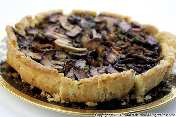 Asian-inspired Mushroom Tart Recipe Recipe