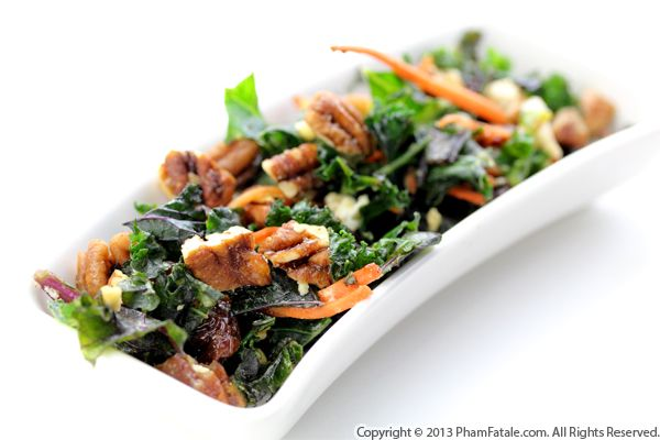 Kale Salad with Pomegranate Dressing Recipe