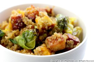 Paneer, Brussel Sprout and Butternut Squash Quinoa Recipe