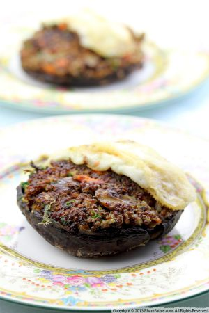 Quinoa Stuffed Portobello Burger Recipe