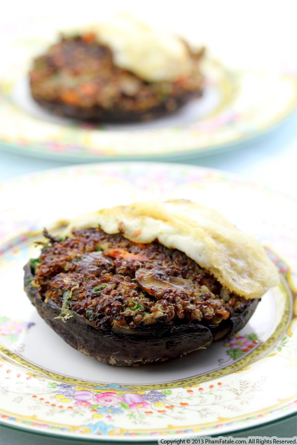 Quinoa Stuffed Portobello Burger Recipe Recipe