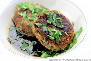 Vegetarian Homemade Black Turtle Bean Patties
