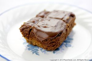 Ganache-Topped Banana Blondie Recipe