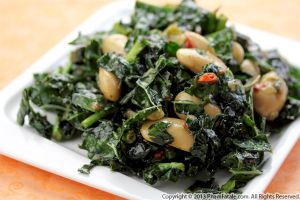 Gigante Bean and Kale Salad Recipe