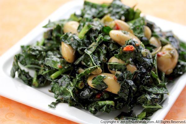 Gigante Bean and Kale Salad Recipe Recipe