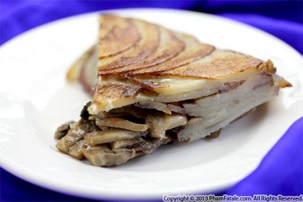 Mushroom Potato Galette Recipe Recipe
