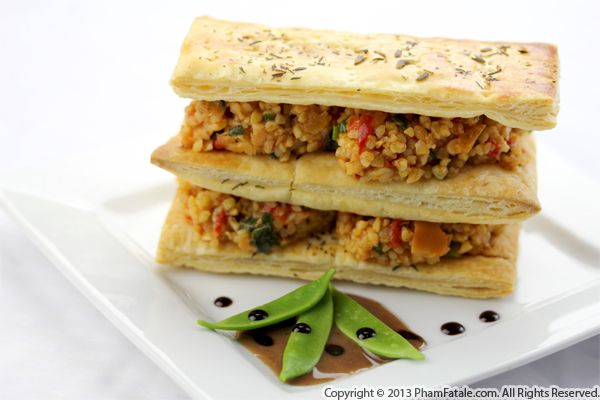 Summery Bulgur Napoleon Recipe Recipe