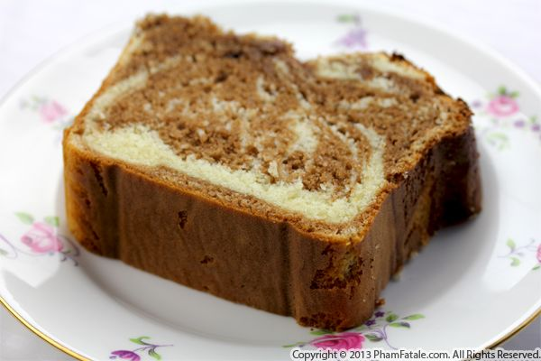 Marble Cake Recipe (Marbre au Chocolat) Recipe