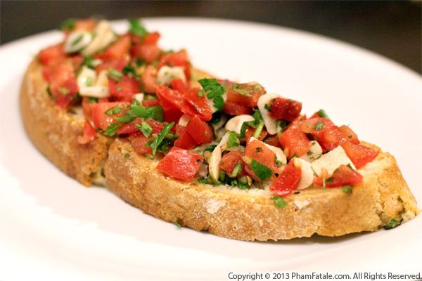 italian tomato bruschetta recipe pham fatale. Black Bedroom Furniture Sets. Home Design Ideas