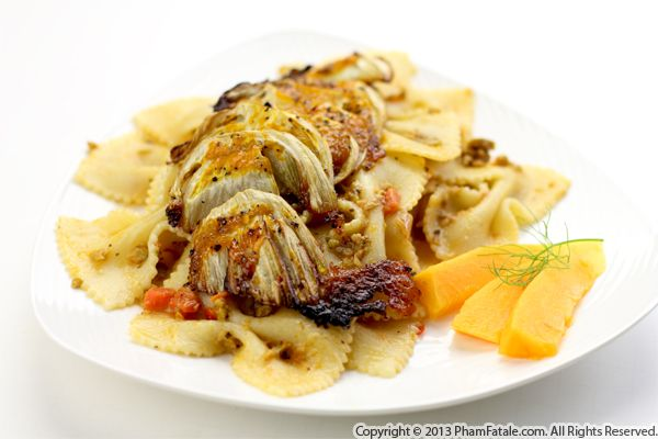 Papaya Roasted Fennel Pasta Recipe Recipe
