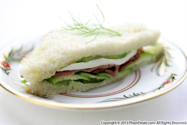 Bresaola and Cucumber Finger Sandwiches Recipe