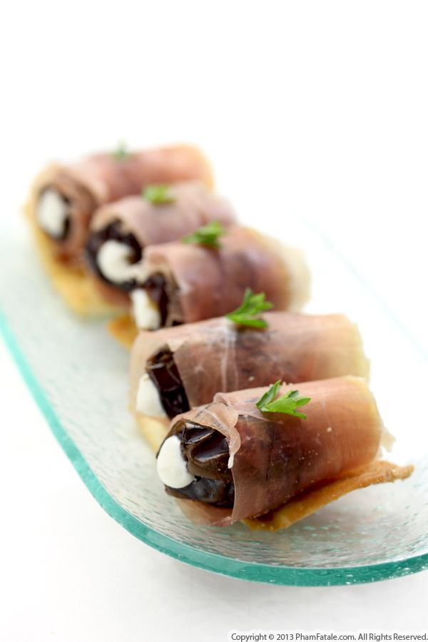 Stuffed Dates with Duck Prosciutto Recipe