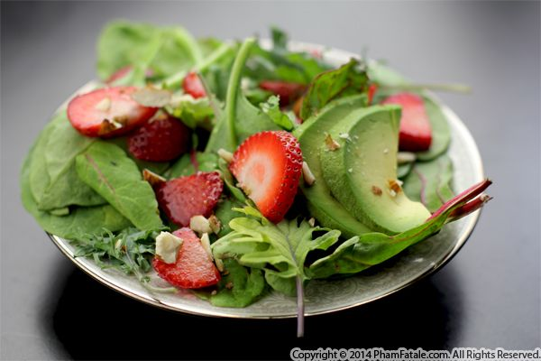 Strawberry Almond Summer Salad Recipe Recipe