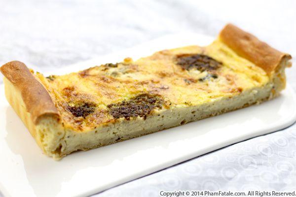 Gorgonzola Kale Brioche Tart (Savory Tart Recipe) Recipe