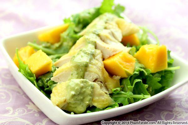 Chicken Kale Salad with Papaya Recipe
