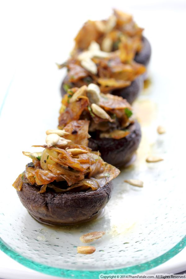 Yuba Stuffed Mushroom Appetizers Recipe