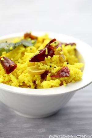 South Indian Spiced Lemon Rice Recipe