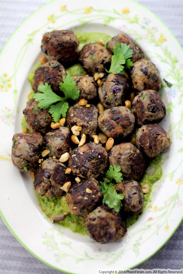 Asian-Inspired Bison Meatball Appetizer Recipe Recipe