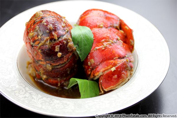 Lobster Tails in Spicy Broth