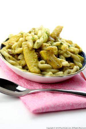 Crookneck Squash Gemelli Pasta (Vegetarian Pasta Recipe)