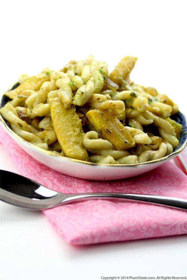 Crookneck Squash Gemelli Pasta (Vegetarian Pasta Recipe) Recipe