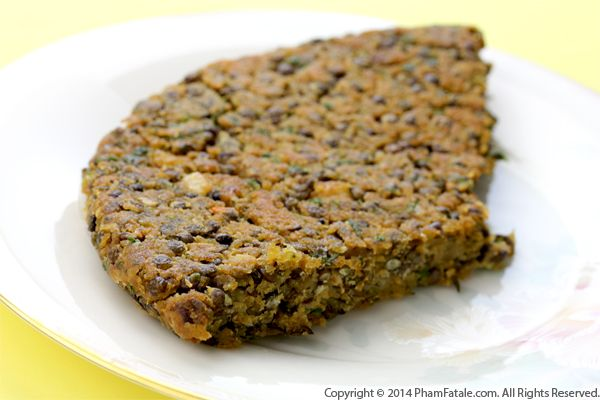 French Green Lentil Cake Recipe