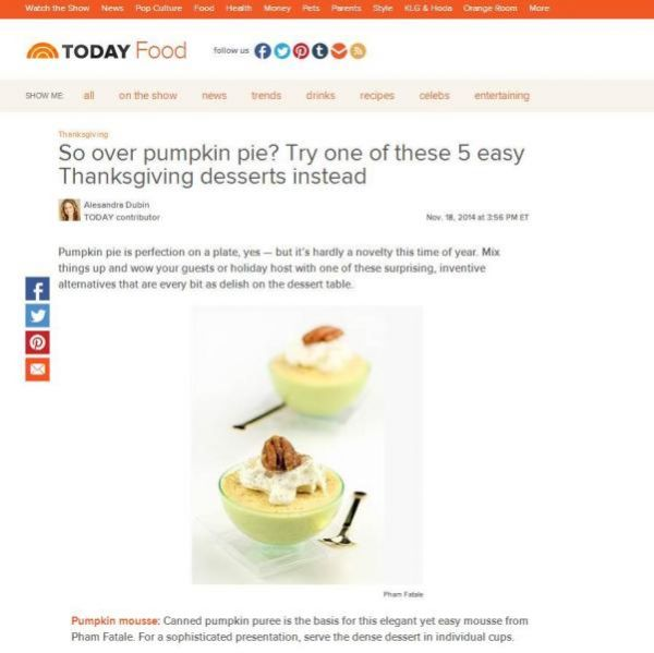 Thanksgiving Pumpkin Dessert Featured in TODAY Recipe