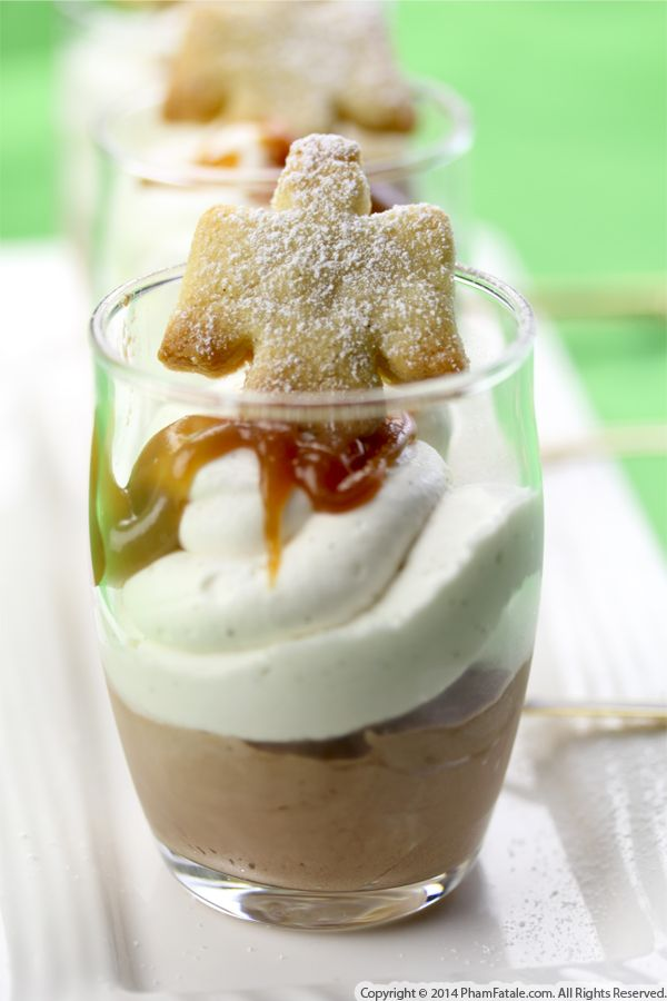 Angel Salted Caramel Chocolate Dessert Cups for Christmas Recipe