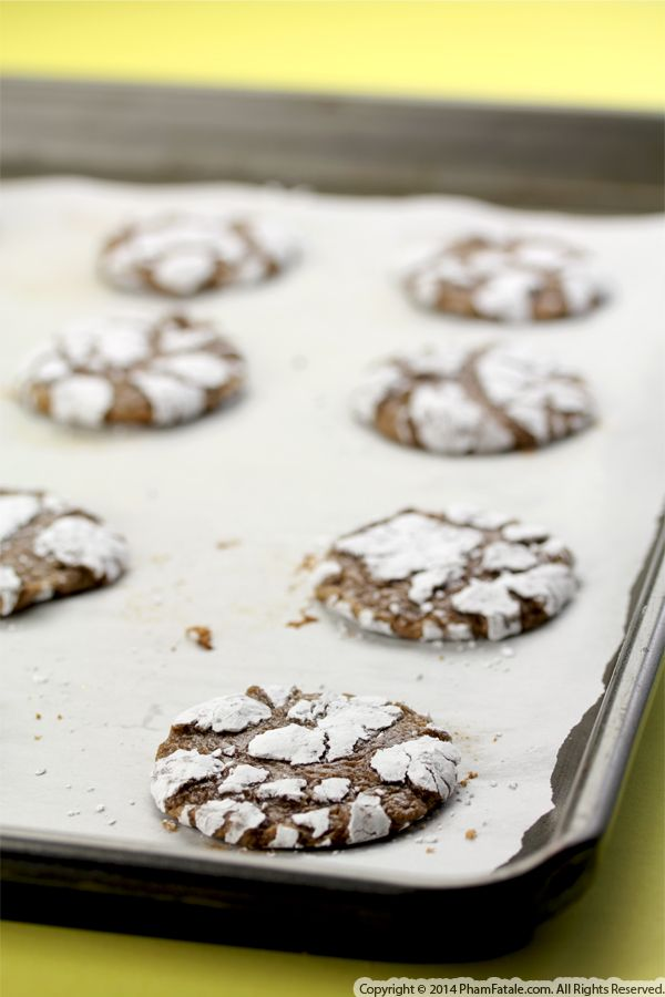 Chocolate Snowflake Crinkle Cookies Recipe