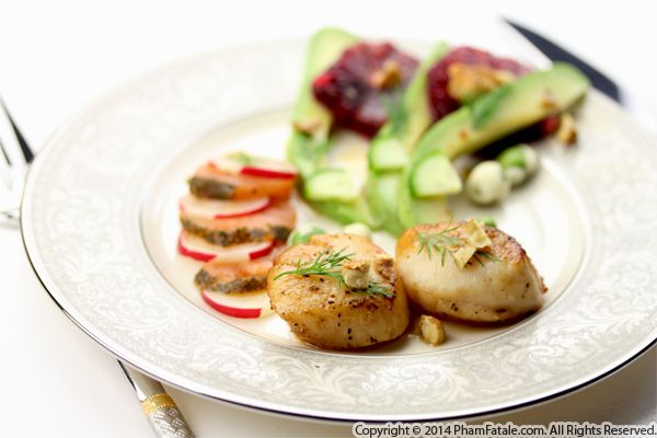 Scallops, Smoked Salmon and Citrus Recipe