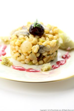 Oyster Israeli Couscous Salad Recipe