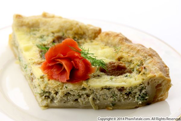 Smoked Salmon Artichoke Tart Recipe