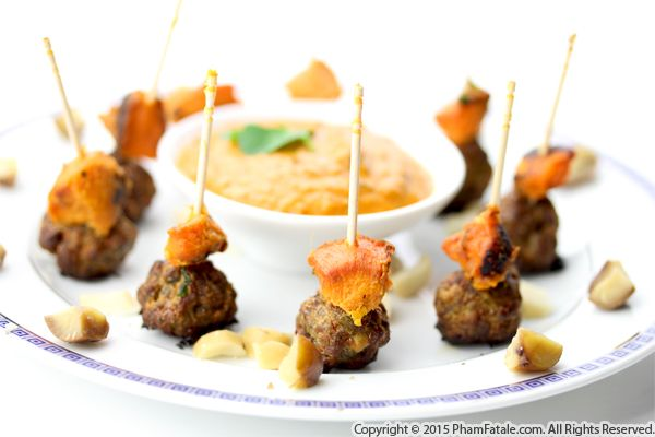 Meatball Appetizers with Sweet Potatoes Recipe