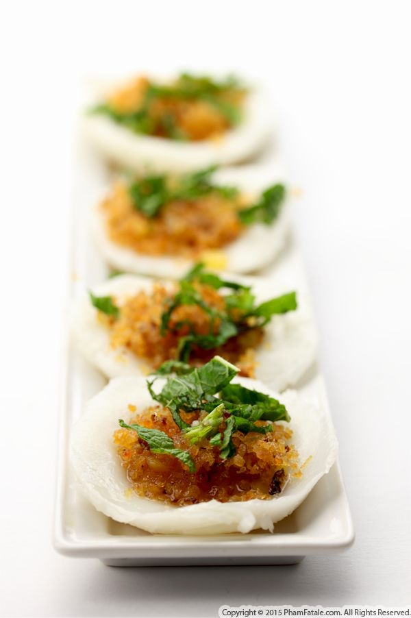 Homemade Banh Beo (Steamed Rice Cakes with Shrimp)