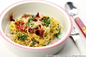 Roasted Cherry Tomato Capellini Pasta