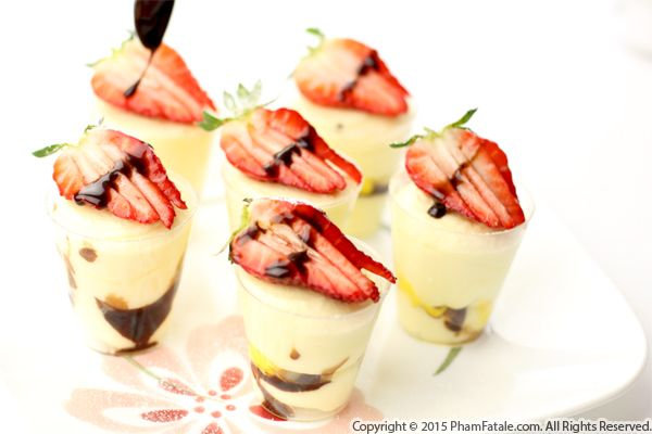 Strawberry Cointreau Cup Dessert Recipe with Picture