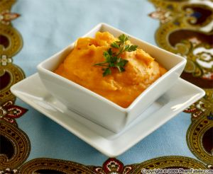 Sweet Mashed Potatoes with Maple Syrup Roasted Bananas