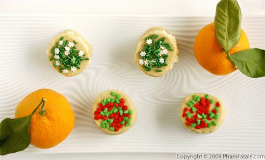 Mandarin Cream Sandwich Cookies with Picture