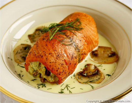 Pecan stuffed salmon recipe with Picture