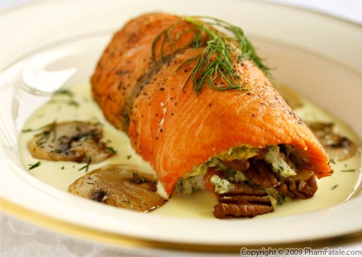 salmon is to cook it medium-rare. Just quickly pan-sear the salmon ...