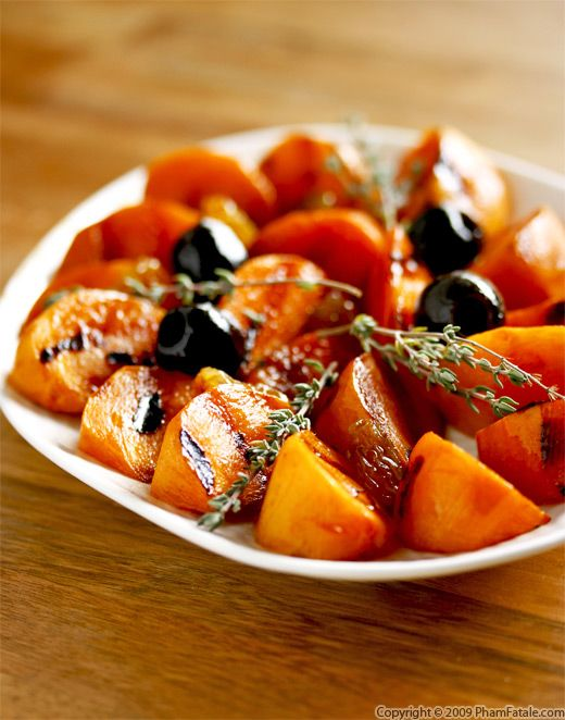 Caramelized Fuyu persimmons