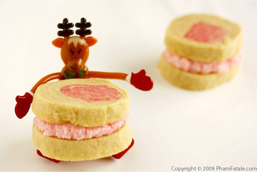 Rose Cream Sandwich Cookies